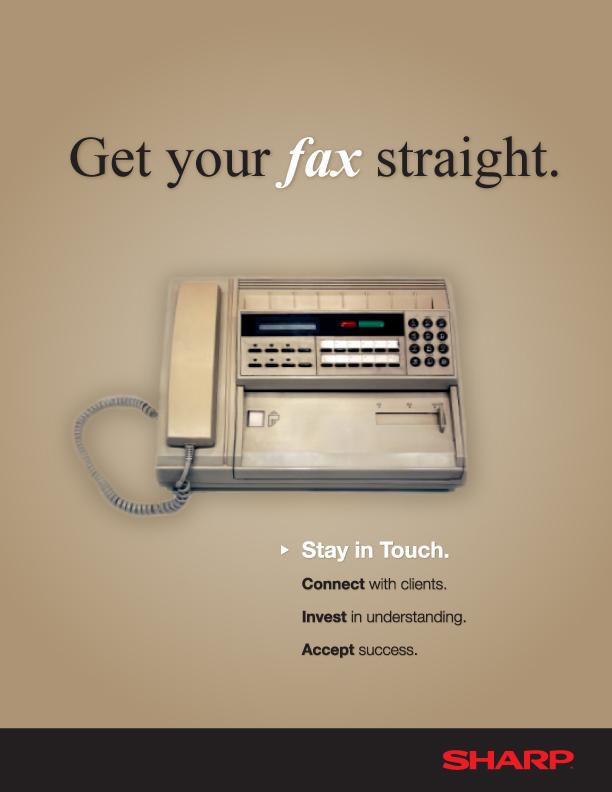 Vintage Fax Machine Ad